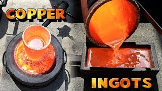 getlinkyoutube.com-Making 5 Pound Copper Ingots From Scrap