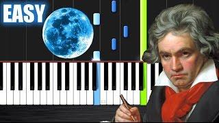 getlinkyoutube.com-Beethoven - Moonlight Sonata - EASY Piano Tutorial by PlutaX