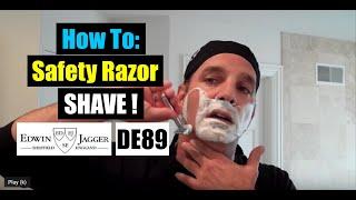 getlinkyoutube.com-Edwin Jagger DE89 Safety Razor Shave-Shop at ShaveNation.com