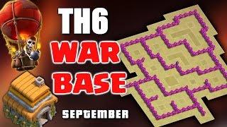 getlinkyoutube.com-Clash Of Clans - Best Town Hall 6 War Base ♦ TH6 War Base September 2016