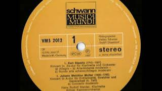 Hans-Rudolf Stalder Klarinette Bassetthorn Kölner Kammerorchester Helmut Müller-Brühl