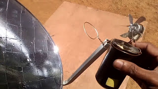 MINI SOLAR POWER PLANT Concentrating solar Parabolic Reflector DIY