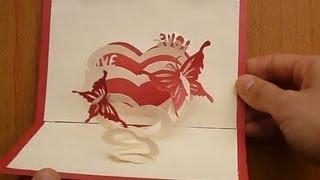 getlinkyoutube.com-How to Make A Valentine's day Pop Up Card : Spiral Heart