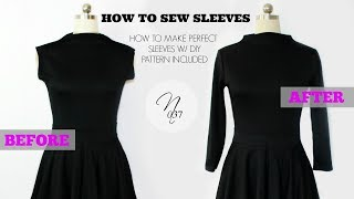 Nadira037 | How to Sew Sleeves + DIY Pattern Included