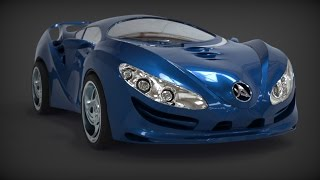 getlinkyoutube.com-ZBrush 4r7 Zmodeler 3d modeling Car
