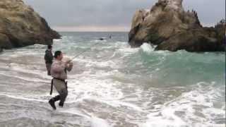 getlinkyoutube.com-Hunting The Giants 4, Surf Fishing Southern California