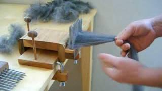 getlinkyoutube.com-Combing Wool with Benjamin Green Standard Wool Combing Kit