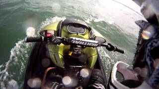getlinkyoutube.com-How NOT to start (and end) a day of wave jumping... almost sinking of a Seadoo RXP