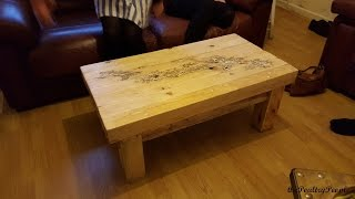 getlinkyoutube.com-How to make a Coffee Table  with Pallets - DIY Furniture Project - Lichtenberg Figure