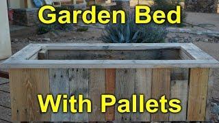 getlinkyoutube.com-Rustic Garden Bed Built with Pallet Wood