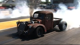 getlinkyoutube.com-Turbo Cummins Diesel Rat Rod Truck - Drag Week 2015