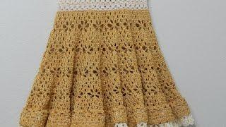 getlinkyoutube.com-Vestido Circular Crochet parte 2 de 3