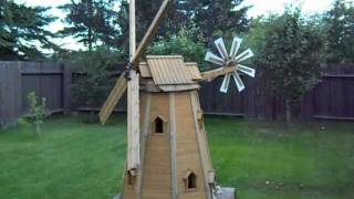 getlinkyoutube.com-wooden homemade garden windmill by laszlo