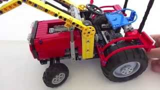getlinkyoutube.com-Lego Technic : Tractor with front loader