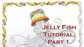 Colouring Tutorial: JellyFish in Lost Ocean. Part 1