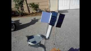 getlinkyoutube.com-Home-made Solar Tracking System with no electronics for solar panel or solar oven