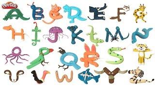 getlinkyoutube.com-Play Doh Abc   ABC Phonics Song   Playdoh Animals   Playdoh Alphabets and animals