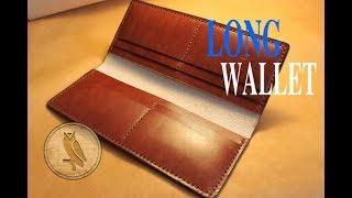 getlinkyoutube.com-Making a Leather Long Wallet (Simple)