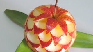 getlinkyoutube.com-How to make apple sculpture - J.Pereira-Art Carving