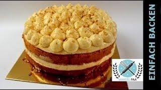 getlinkyoutube.com-Apfel-Zimt Torte mit Bayrischer Creme | apple-cinnamon cake | mit Anleitung und Rezept