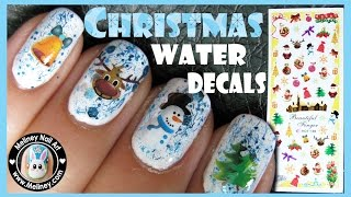 getlinkyoutube.com-CHRISTMAS WATER DECAL NAILS EASY SIMPLE NAIL ART DESIGN   MELINEY HOW TO VIDEO