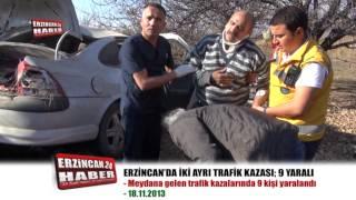 Trafik Canavarı Erzincan'da HIZ Kesmiyor; 9 Yaralı