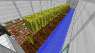 Minecraft 全自動スイカ収穫機 改良版【回収時のみトロッコ自動発着型】