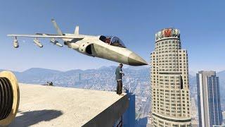 getlinkyoutube.com-#68【GTA5リクエスト編】戦闘機の「上」に乗りレイルガンをぶっぱなせ!!