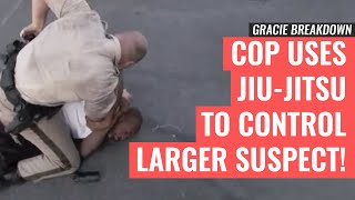 getlinkyoutube.com-Las Vegas POLICE Officer Uses JIU-JITSU to Control Larger Suspect (Gracie Breakdown)