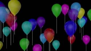 Fondos de Video  Globos sin fondo chroma key canal alpha