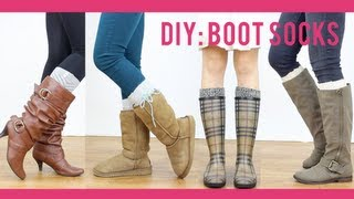 getlinkyoutube.com-DIY Tutorial: Boot Socks | Miss Louie
