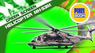 Green Screen Helicopter MH 53M Pave Low Takes off - Footage PixelBoom