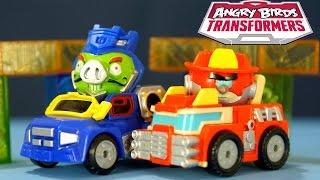 getlinkyoutube.com-Игрушки Angry Birds Transformers: Soundwave, Heatwave - на русском. Игрушки для Мальчиков. Кока Туб