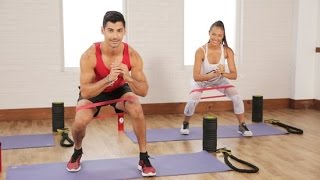 getlinkyoutube.com-2-Booty Band Moves For a Tight Butt | Class FitSugar