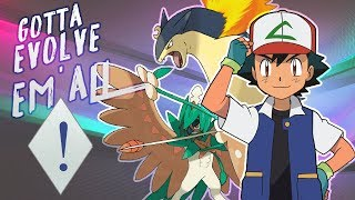 All Pokemon of Ash evolved