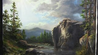 getlinkyoutube.com-Sunshine Across the Cliffs | Paint with Kevin Hill | Landscape painting