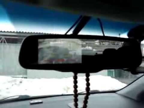 """Камера заднего вида и зеркало с монитором 4"""" на KIA RIO III"""