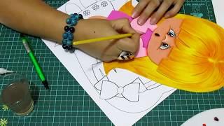 getlinkyoutube.com-DIY Niña para Forro de Cuaderno en Fomi, Goma Eva, Microporoso, Easy Crafts