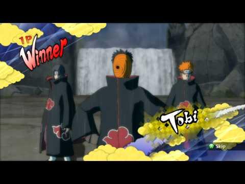 Naruto Ninja Storm 2 :: Sasuke  vs Tobi Online battle :: Round 2
