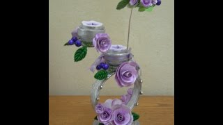 getlinkyoutube.com-Best Out Of Waste Paper  Decorative Candle Stand