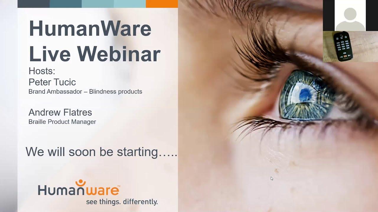 HumanWare Live Webinar May 14th