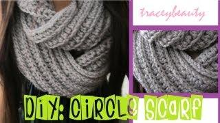 getlinkyoutube.com-DIY: Knit-Like Circle Scarf(Crochet Tutorial)