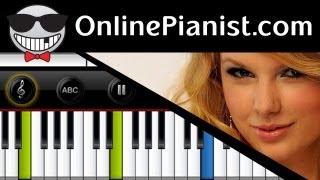 getlinkyoutube.com-Taylor Swift - Love Story - Piano Tutorial & Sheet