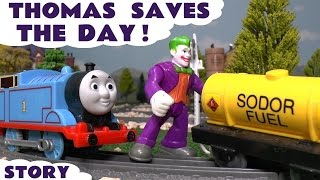 getlinkyoutube.com-Thomas and Friends Toy Trains Tomas Saves The Day Episode with Joker & Batman - Family fun toy story