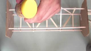 getlinkyoutube.com-Cómo hacer una estructura de base cuadrada con pinchos y palillos