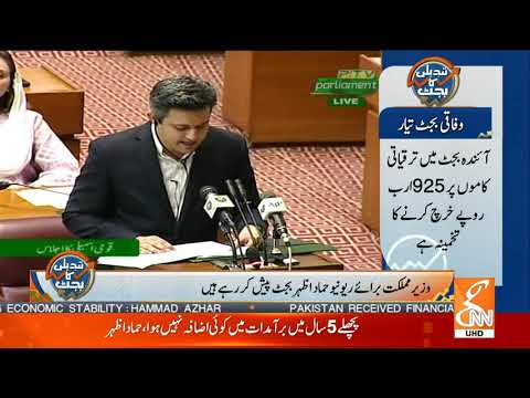 Hammad Azhar Presenting Budget 2019 to 2020 in National Assembly