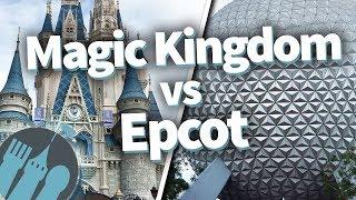 Disney World Magic Kingdom VERSUS Epcot! Which Park Is Best??