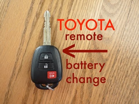 How to? Toyota Key Fob Remote Keyless Battery Change/Replace