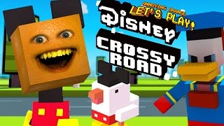 Annoying Orange Plays - Disney Crossy Road!