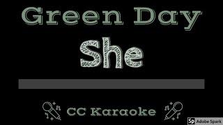 Green Day • She (CC) [Karaoke Instrumental Lyrics]